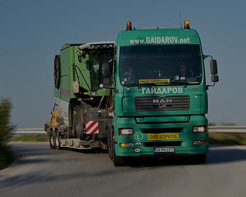Транспорт на извънгабаритни товари – комбайни